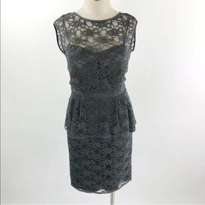 Eliza J Women's Lace Peplum Sheath Dress